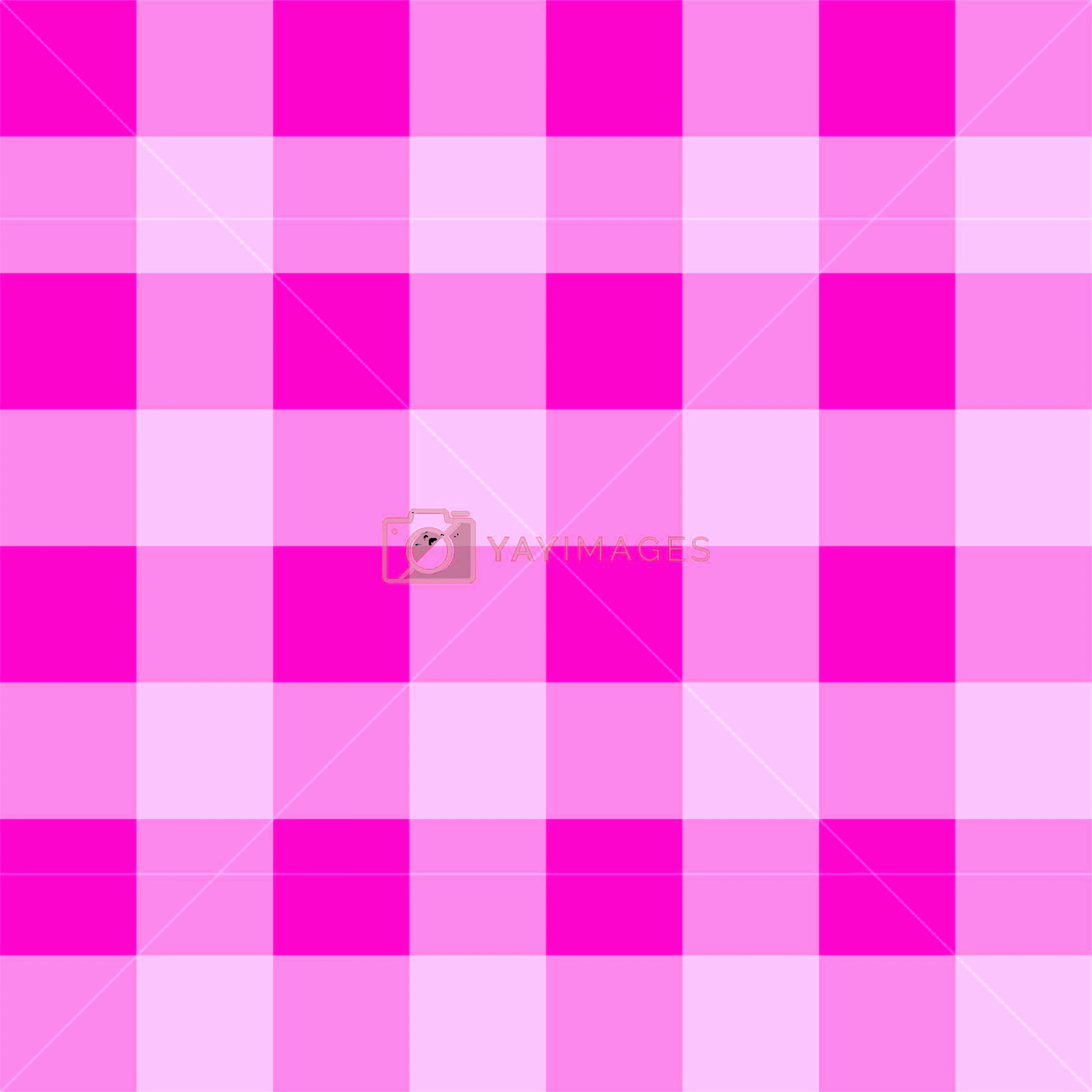Plaid Vector: Seamless Pink Plaid Vector Background Tile Checkered Pattern Or Grid Texture