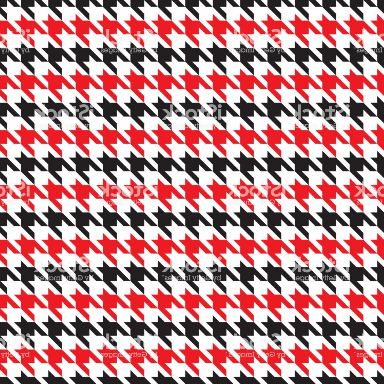 Pink And Black Houndstooth Vector: Seamless Red And Black Houndstooth Pattern Vector Image Gm