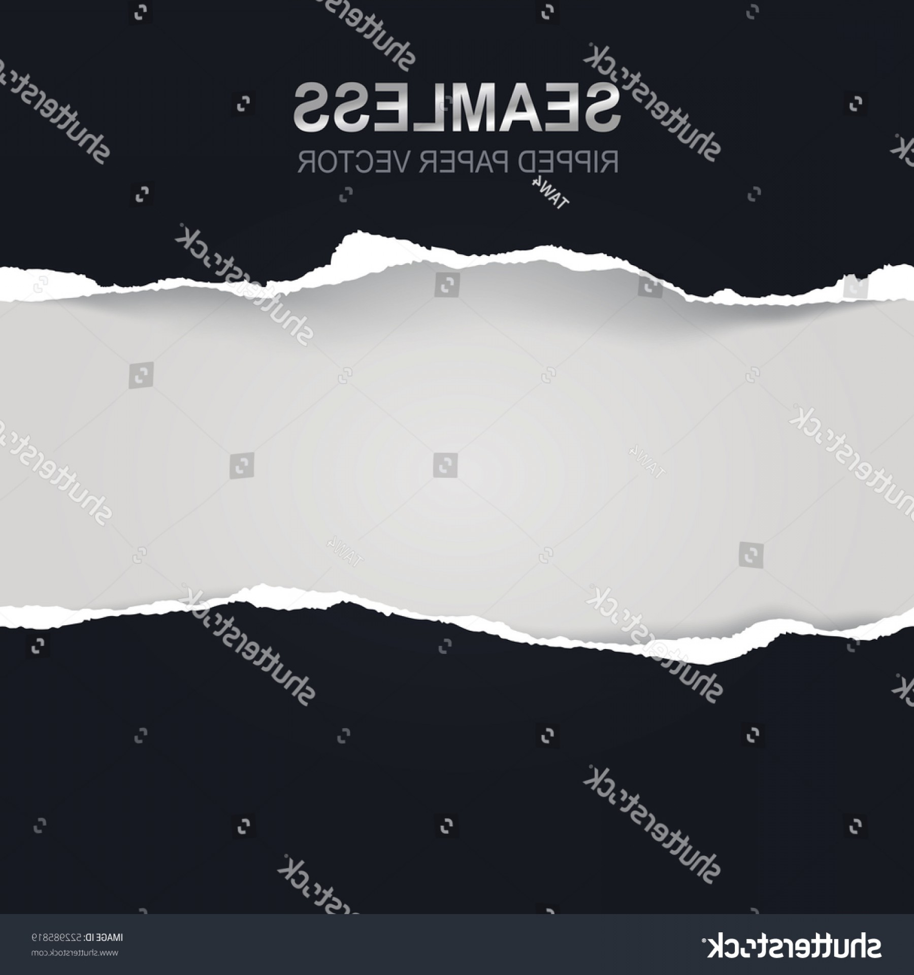 Ripped Black And White Vector: Seamless Ripped Paper White Background Space