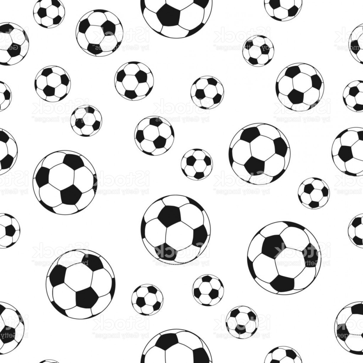 Vector Soccer Ball Pattern: Seamless Soccer Ball Pattern Background Gm