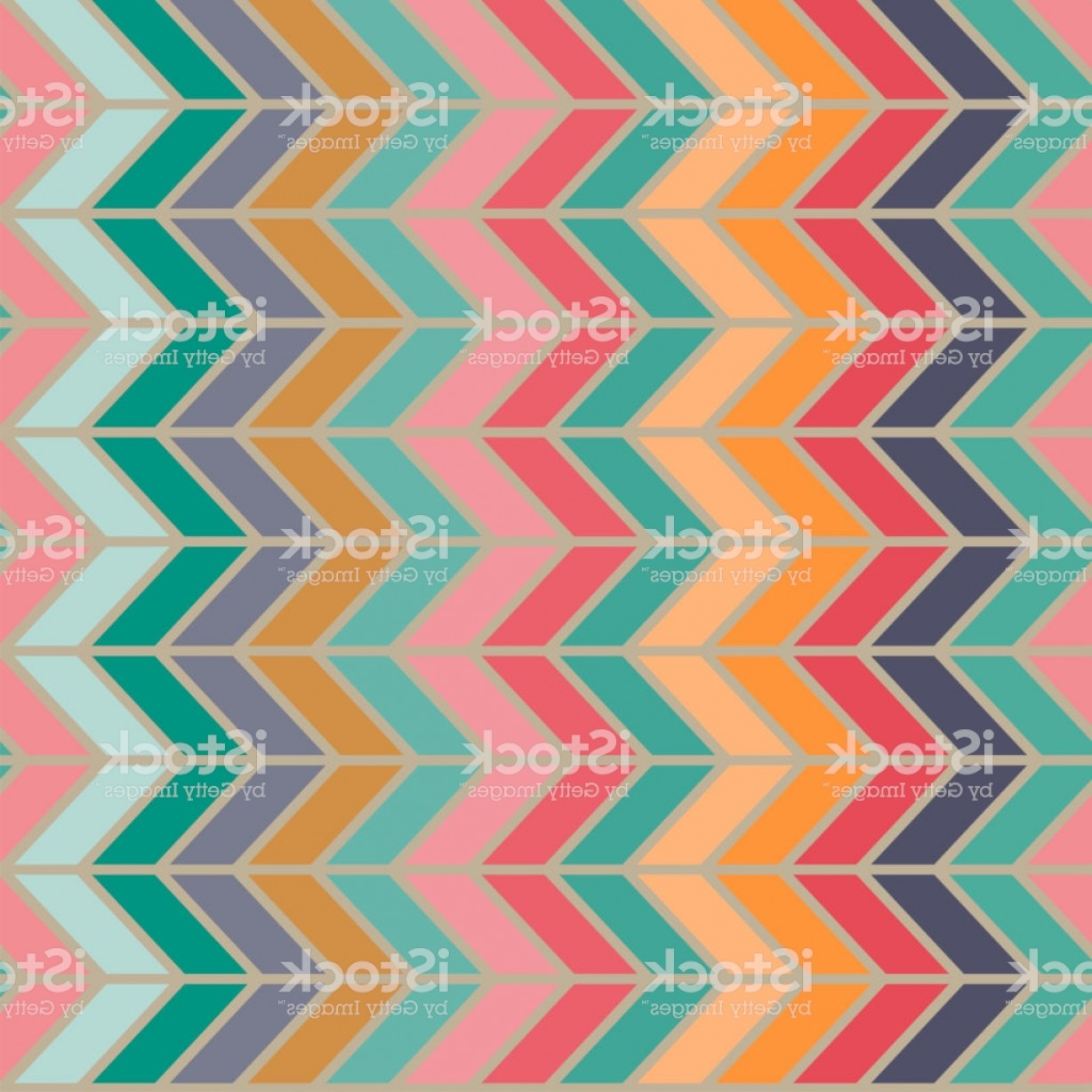 60s Vector: Seamless Vector Abstract Retro S Ribs Colorful Pattern Gm