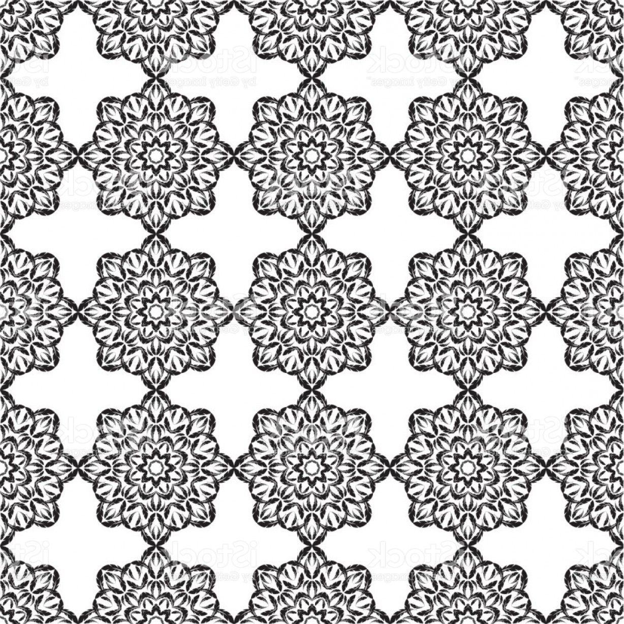 Rapport Vector: Seamless Vector Background With Lace Pattern Textile Rapport Gm