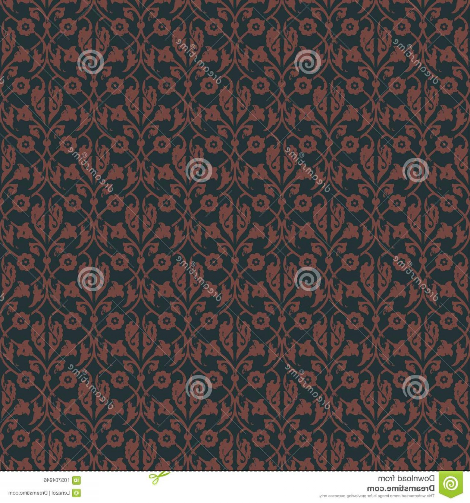Vector Royal Vintage: Seamless Vector Royal Vintage Floral Pattern Design Covers Wrapping Textile Wallpapers Elegant Image