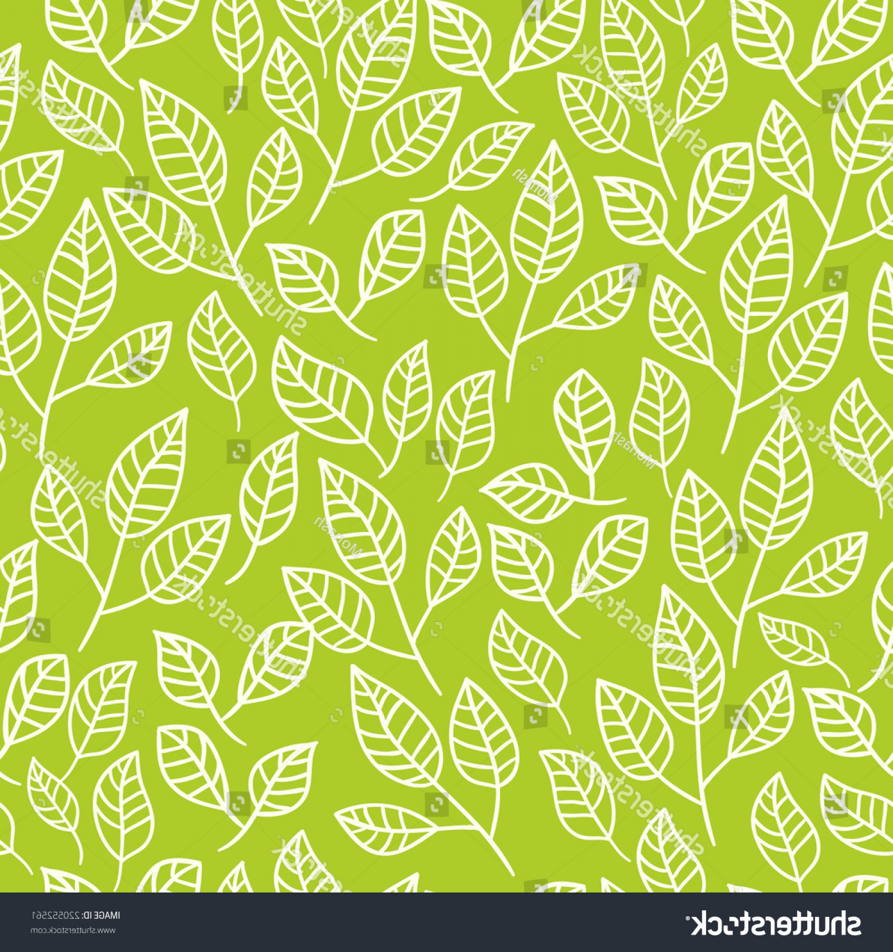 Leaf Background Vector: Seamless Watercolor Background Green Leavespattern Composed