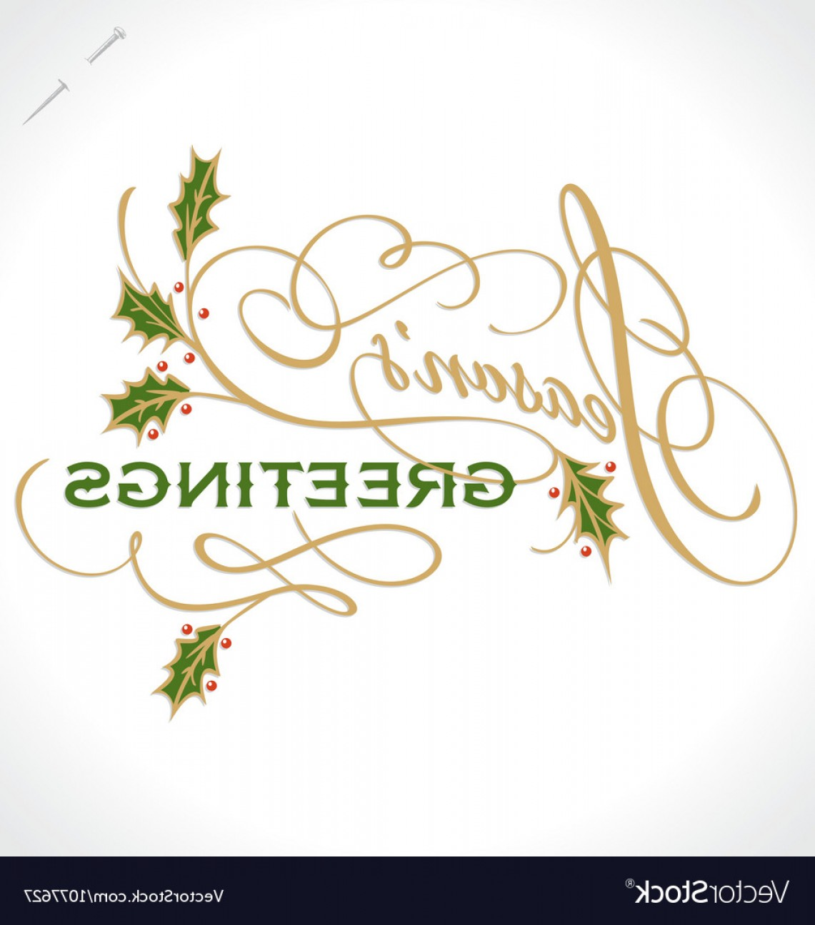Season S Greetings Vector Free: Seasons Greetings Hand Lettering Vector