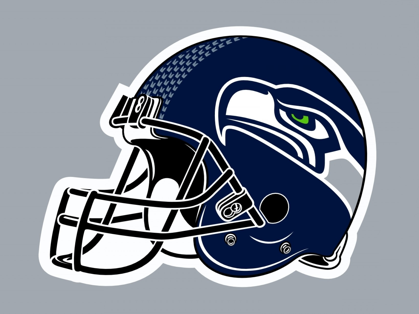 Seahawks Helmet Vector: Seattle Seahawks Helmet Wallpaper