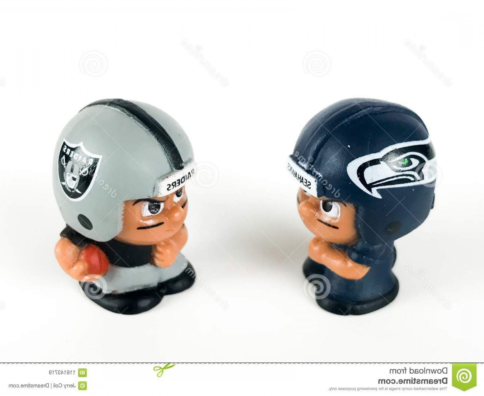 Seahawks Helmet Vector: Seattle Seahawks V Oakland Raiders Li L Teammates Toy Figure Seattle Seahawks V Oakland Raiders Li L Teammates Toy Figure Image