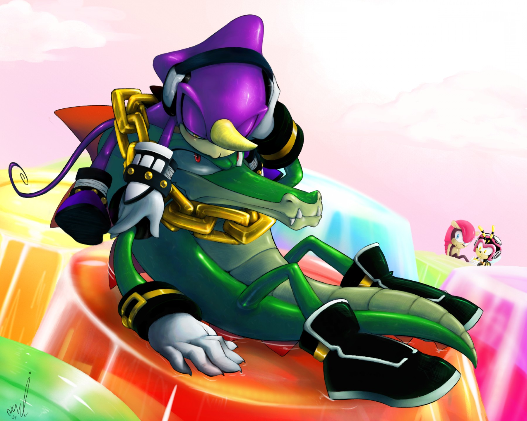 Vector Sonic X Drawings: Second Is Vecpio All Chaotix
