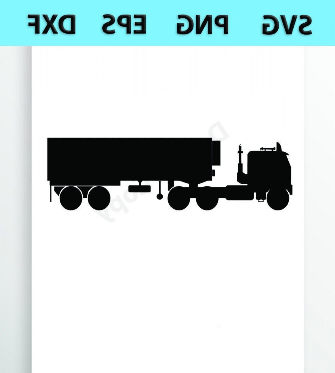 4 Wheeler Vector Art: Semi Truck Svg Files Vector Images