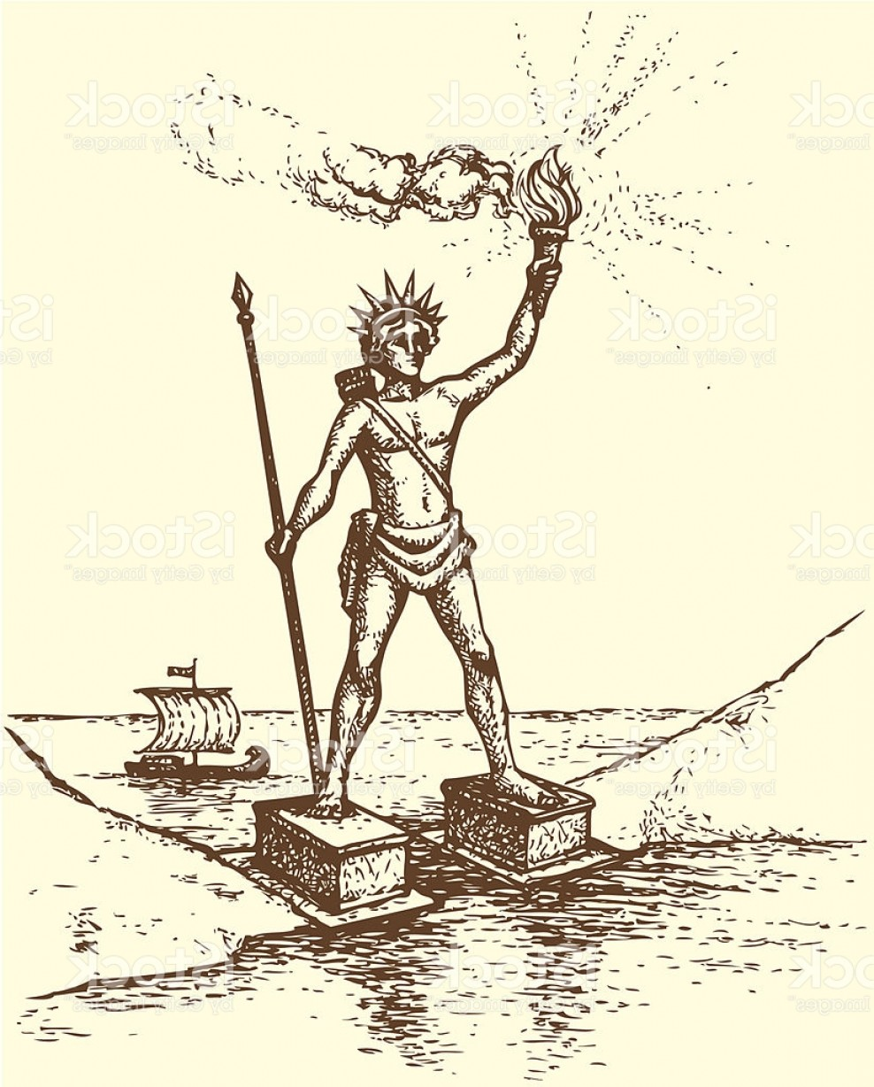 Jupiter Lighthouse Vector: Series Seven Wonders Of The Ancient World Colossus Of Rhodes Gm