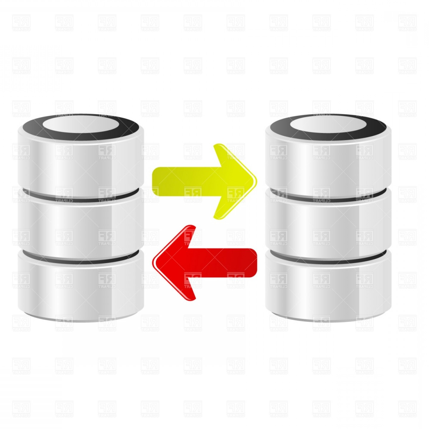 Vector Data Exchange: Server Data Transfer Vector Clipart