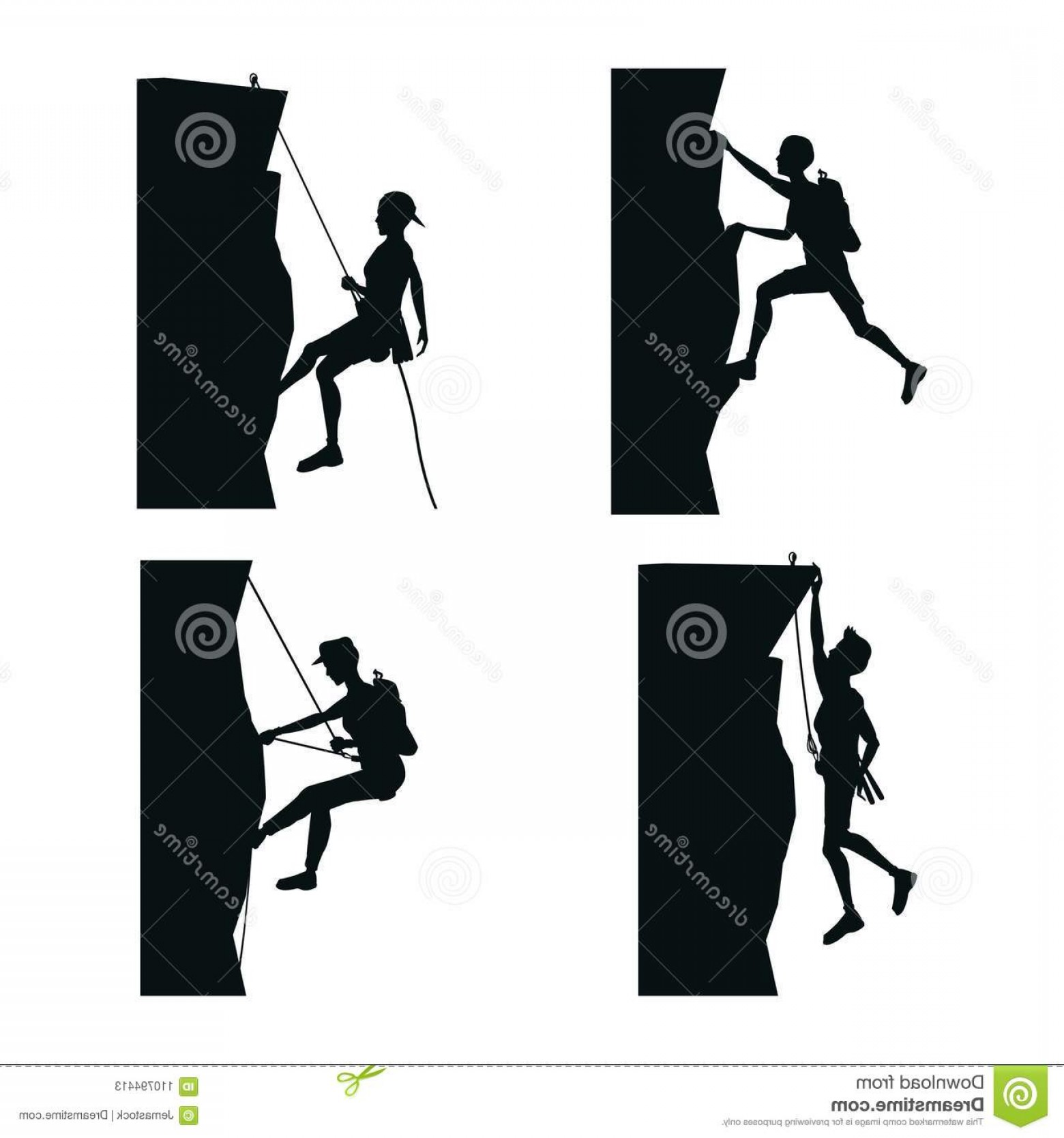 Stand Up Paddle Boarder Vector: Set Black Silhouette Scene Men Climbing Rock Mountain Set Black Silhouette Scene Men Climbing Rock Mountain Vector Image