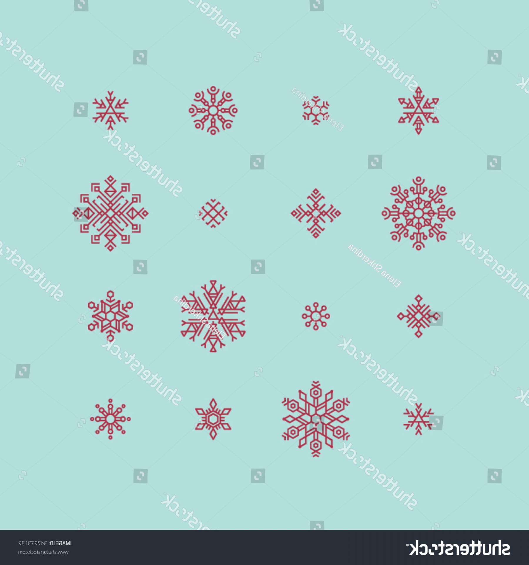 Vector-Based Christmas: Set Christmas Snowflakes Based On Basic