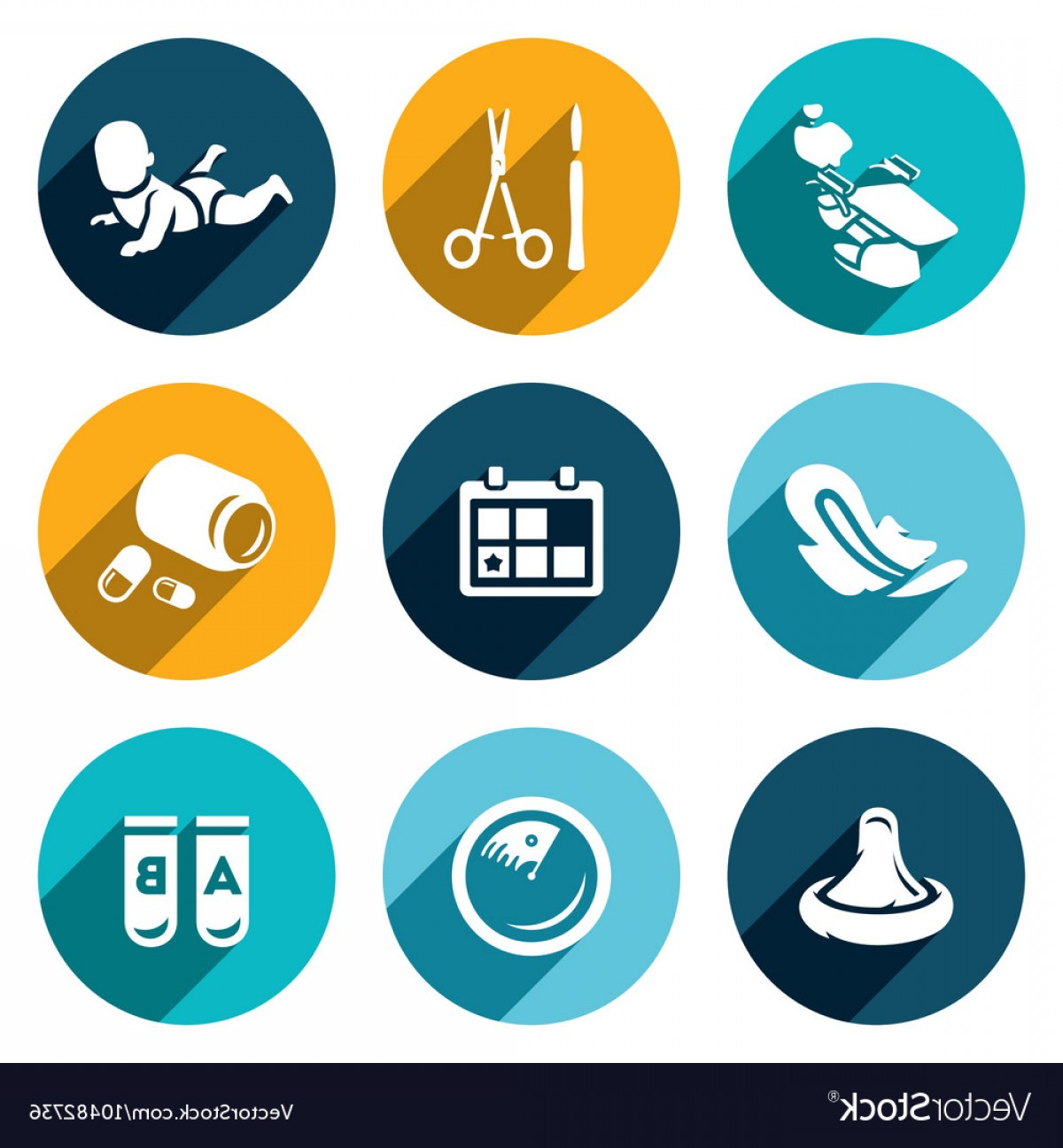Surgery Icon Vector: Set Of Abortion Icons Equipment Surgery Vector