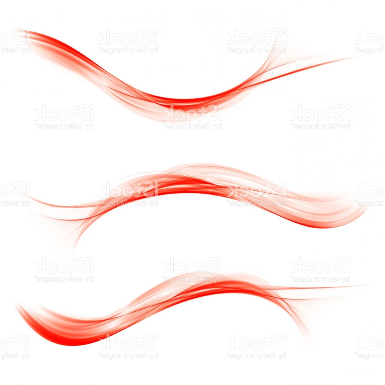 Color Smoke Vector: Set Of Abstract Color Wave Color Smoke Wave Transparent Color Wave Red Color Gm