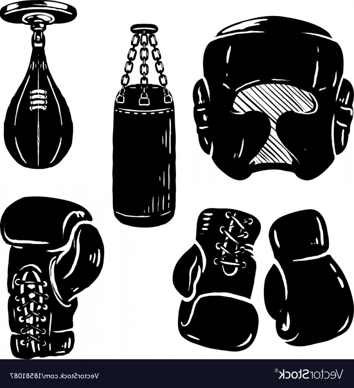 Pictures Of Boxing Gloves Vector Art: Set Of Boxing Sport Design Elements Boxing Gloves Vector