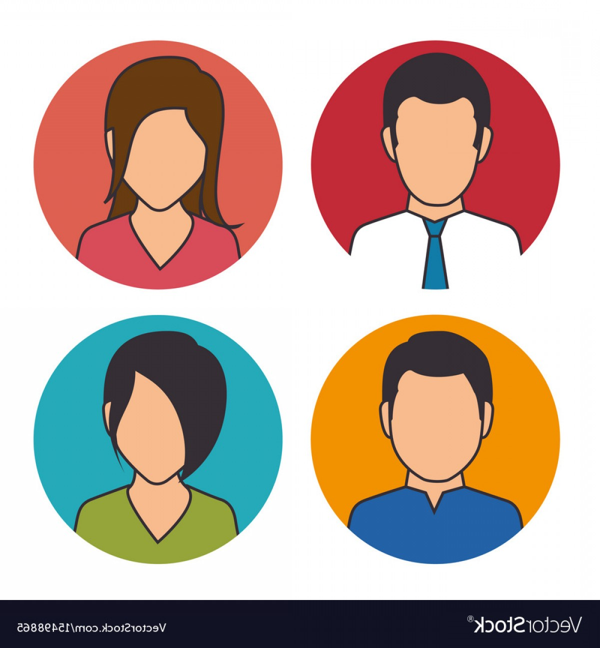 Free Vector Business People Icon: Set Of Business People Icon Vector