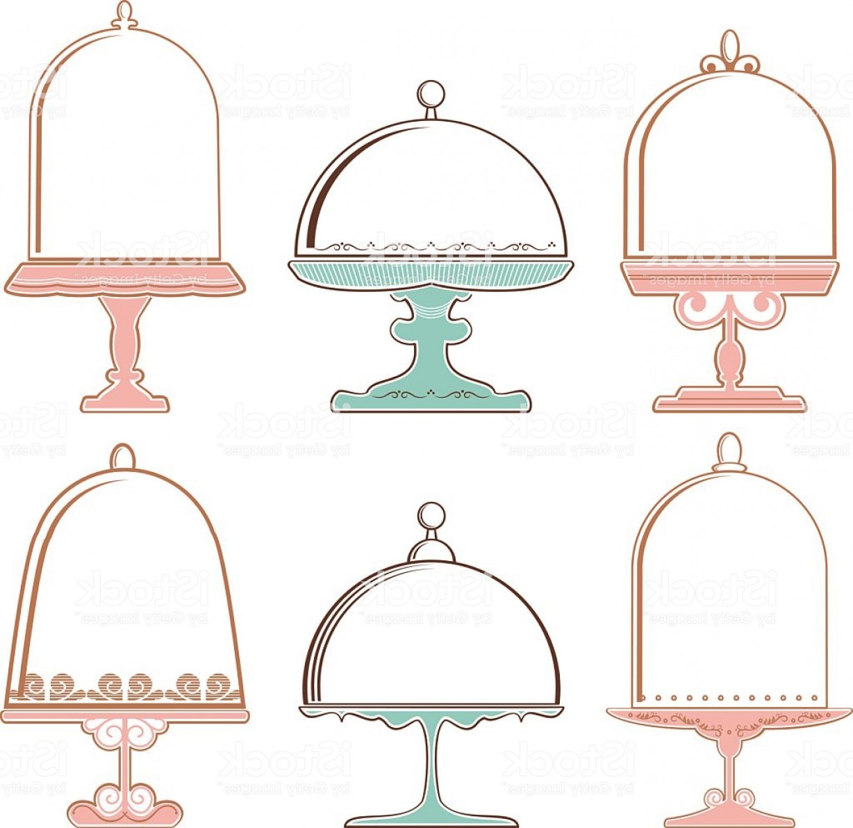 Cake Stand Vector: Set Of Cake Stands Gm