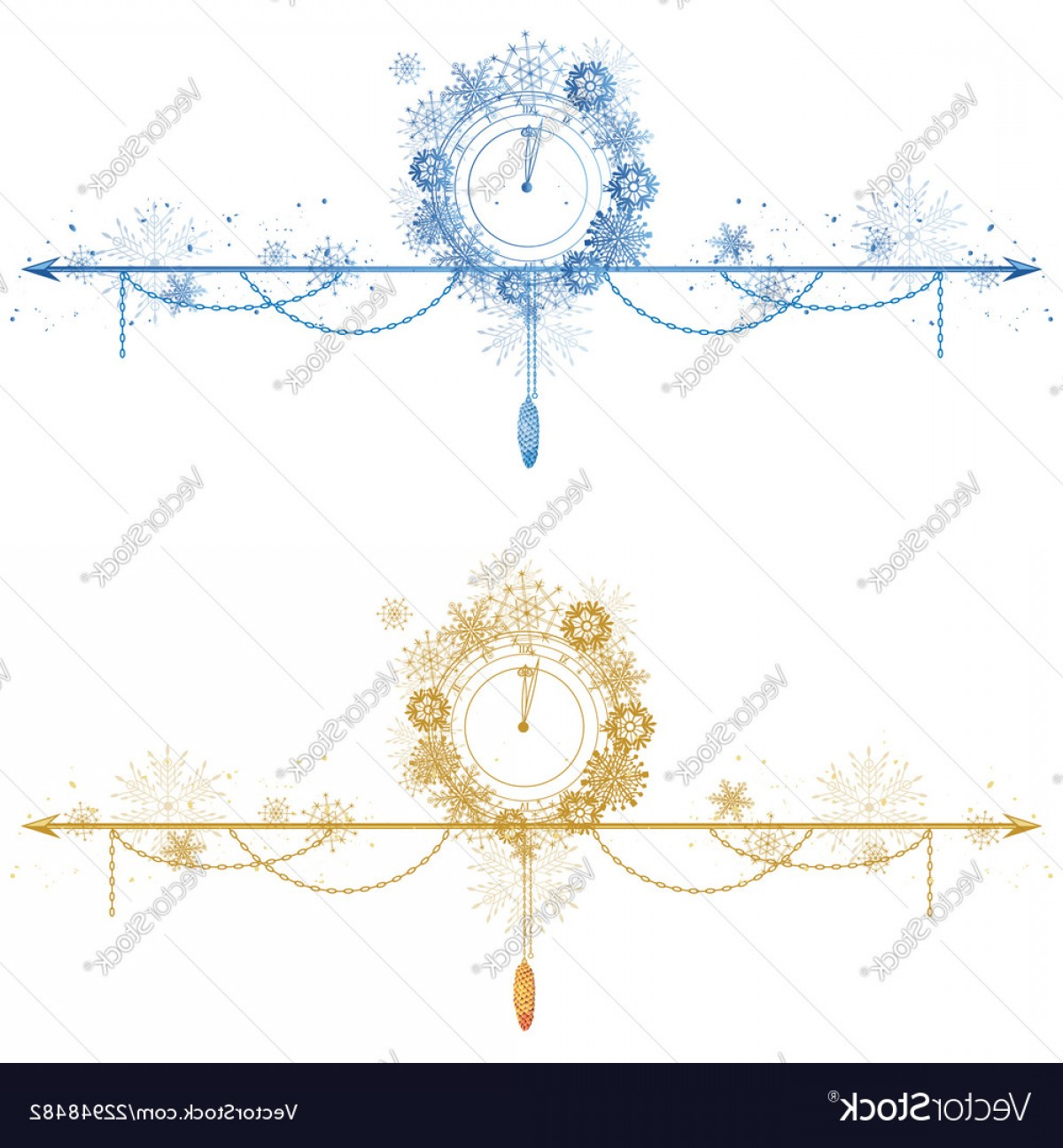 Christmas Divider Vector: Set Of Christmas Dividers Vector