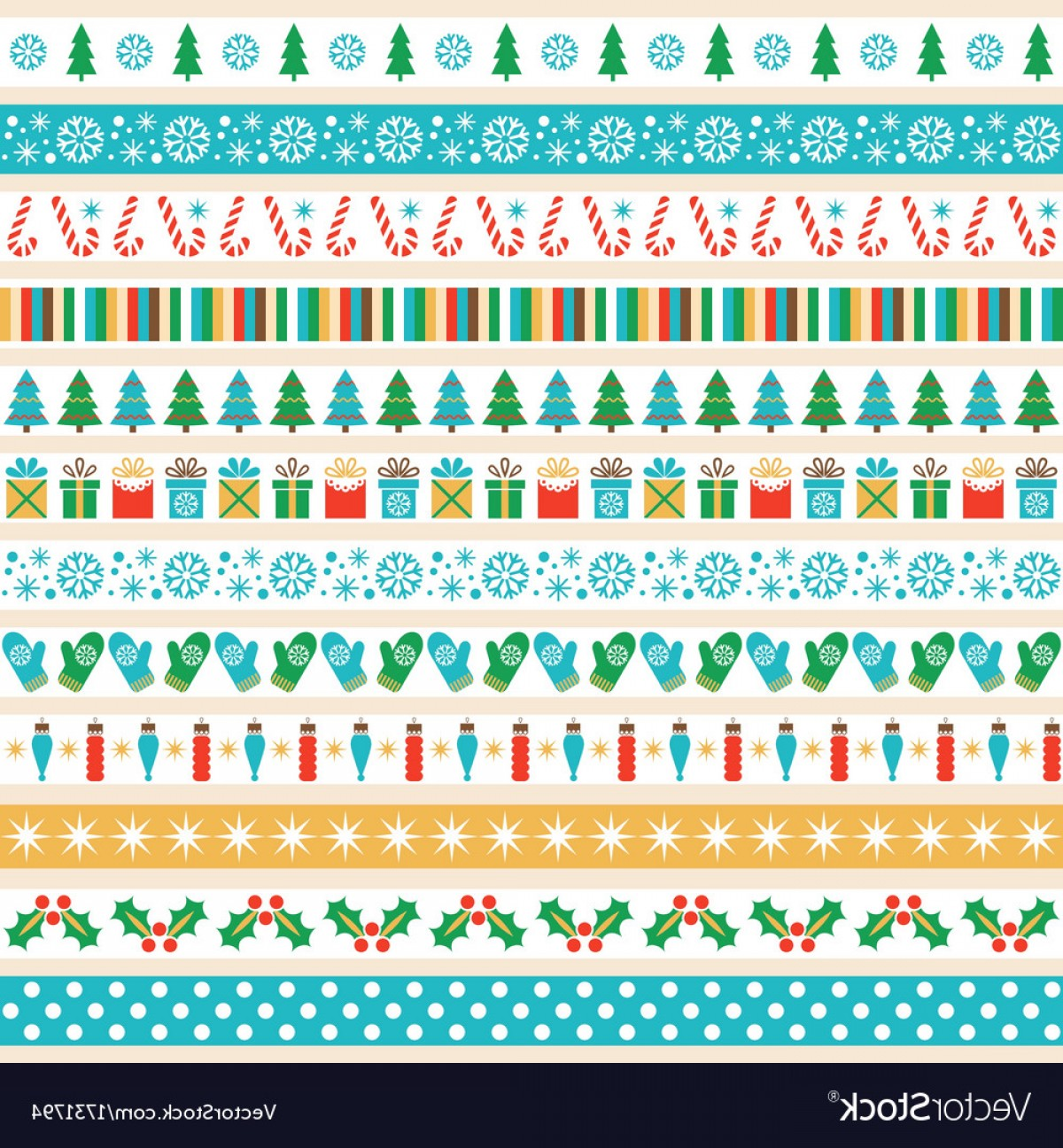 Vector Strips: Set Of Christmas Tape Strips Vector
