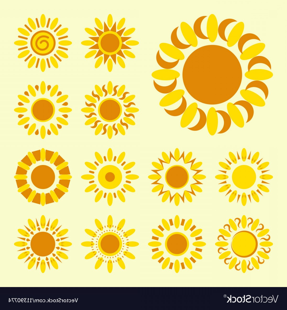Simple Vector Daisy: Set Of Daisy Icons Isolated Silhouettes Of Simple Vector
