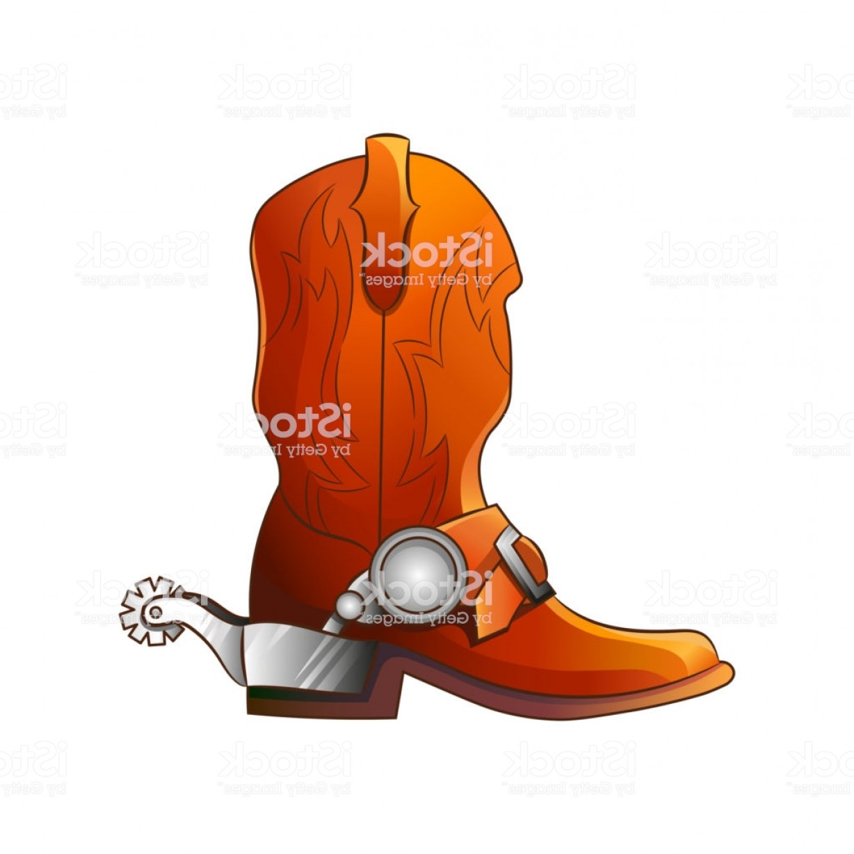 Spurs Clip Art Vector: Set Of Elements Of The Wild West The Equipment Of Cowboys Boots With Spurs Vector Gm