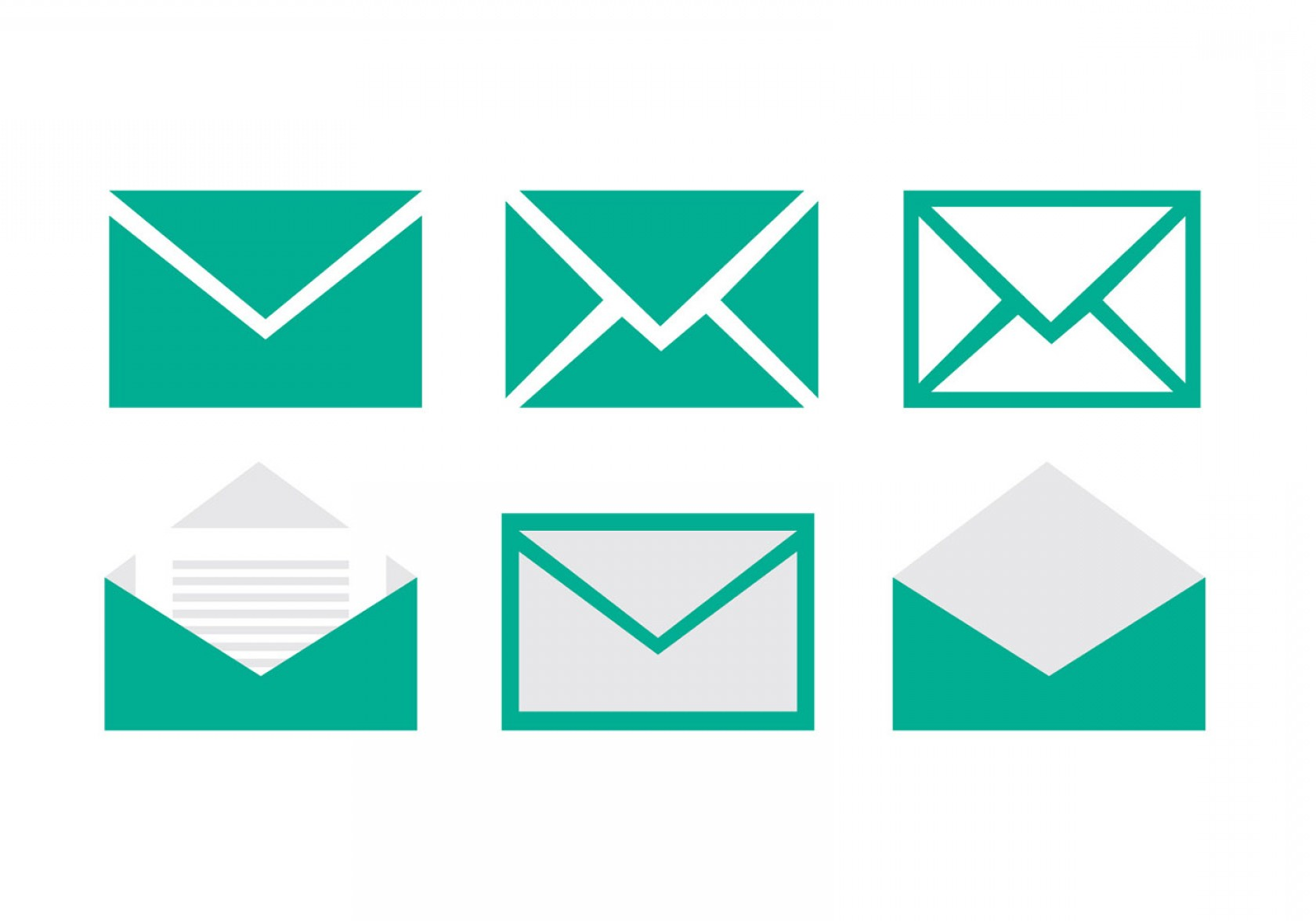 Small Email Icon Vector: Set Of Email Vector Icons
