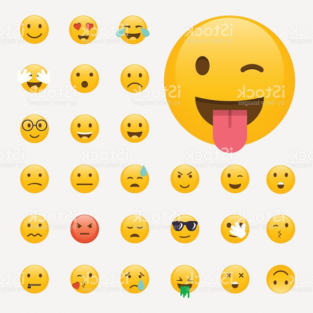 Popular Vector Emoji: Set Of Emoticons Emoji Flat Design Avatar Design Vector Illus Gm