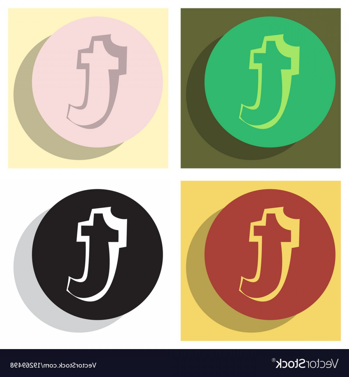 Tumblr Circle Icon Vector: Set Of Flat Tumblr Social Media Icons Vector