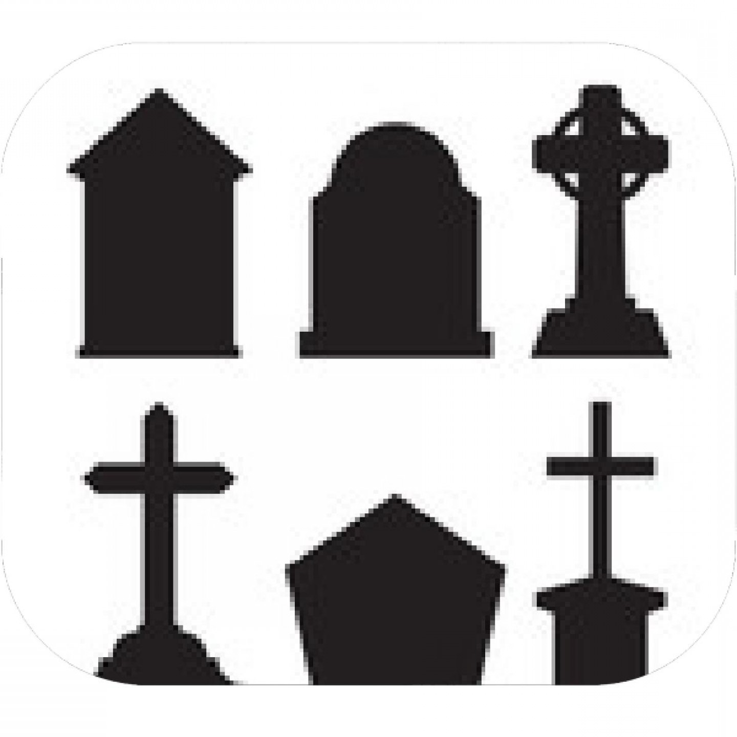 Gravestone Outline Vector: Set Of Grave Marker Vector On White Background Cemetery Mark Silhouette By Hand Drawing