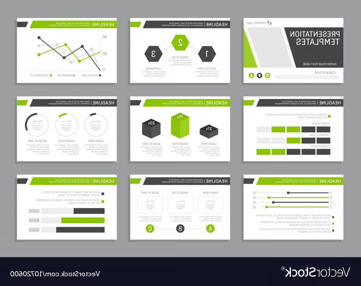 ADP Logo Vector: Set Of Green And Gray Template For Multipurpose Vector