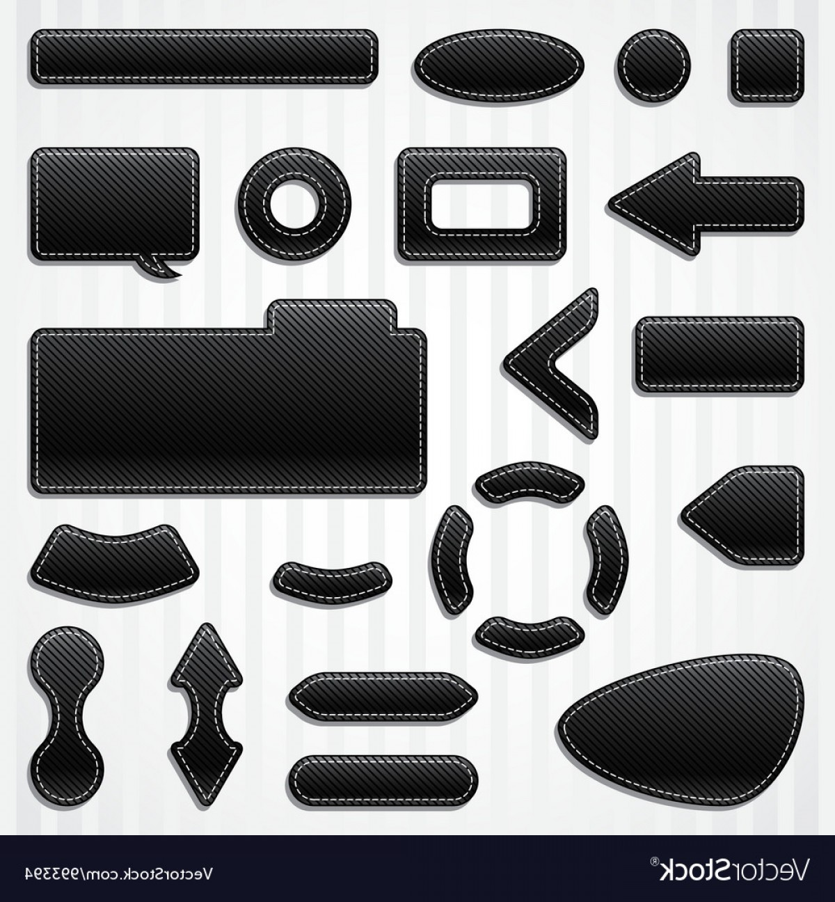 Vectors Buttons And Menus: Set Of Icons Buttons And Menus For Websites In Vector