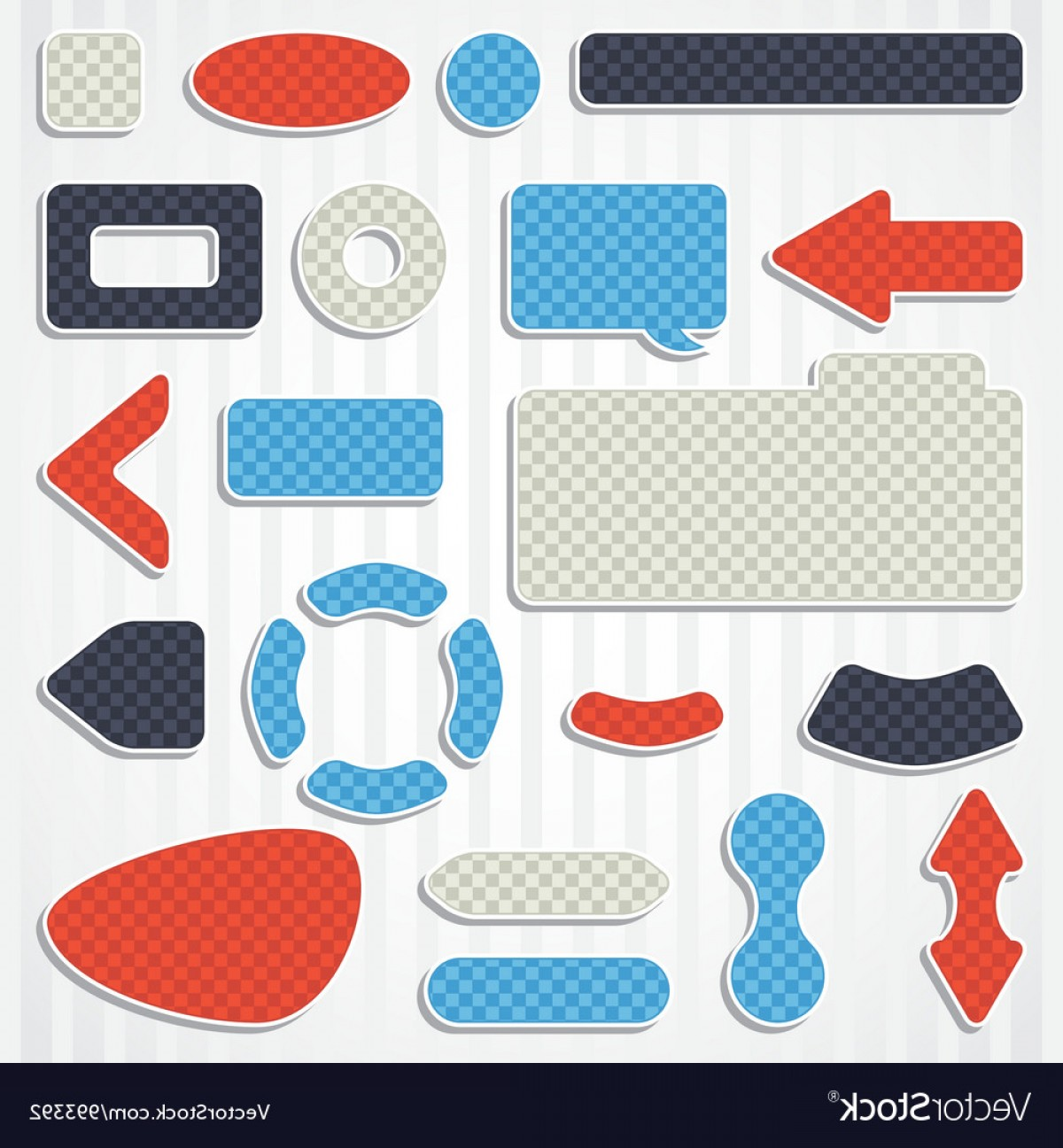 Vectors Buttons And Menus: Set Of Icons Buttons And Menus For Websites Vector