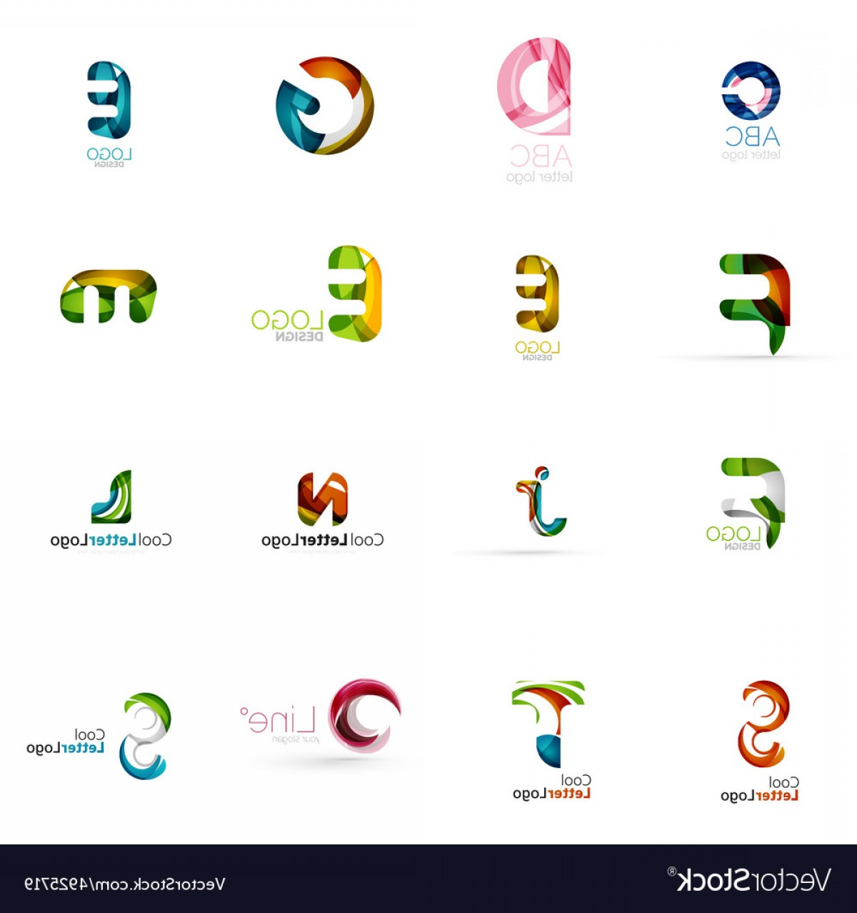 Cool Logo Icon Vector: Set Of Universal Company Logo Ideas Business Icon Vector
