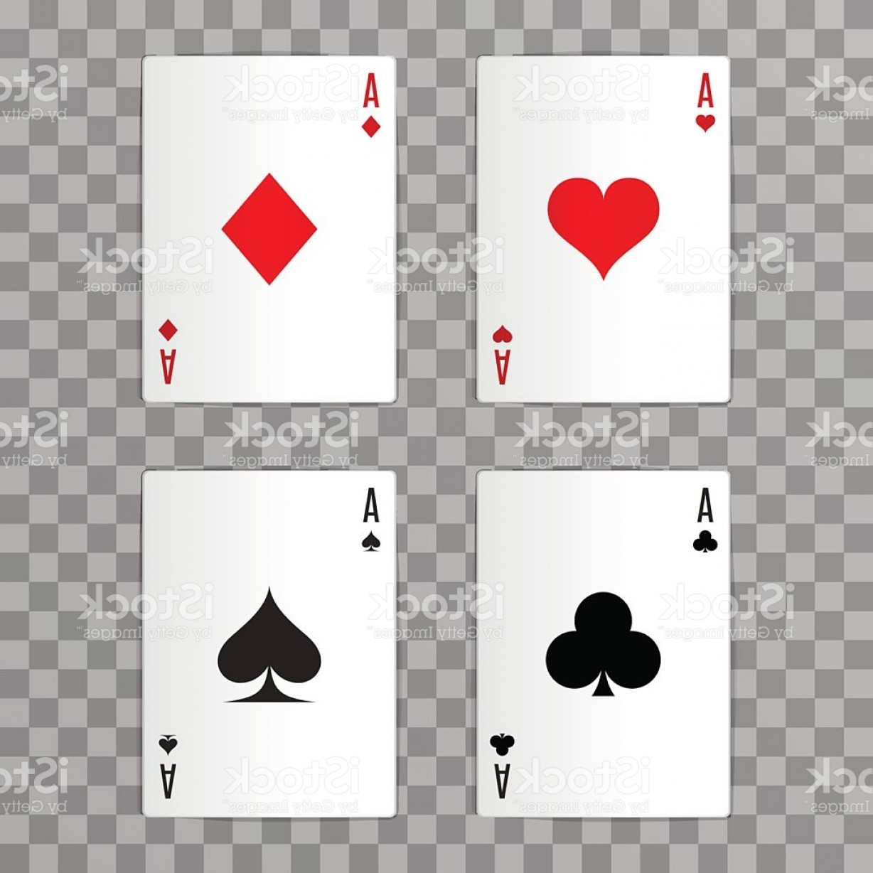 10 Playing Card Vector: Set Of Vector Ace Playing Cards Vector Illustration Eps Gm