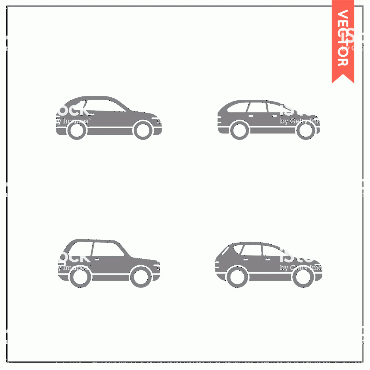 Vector Car: Set Of Vector Car Icons Gm