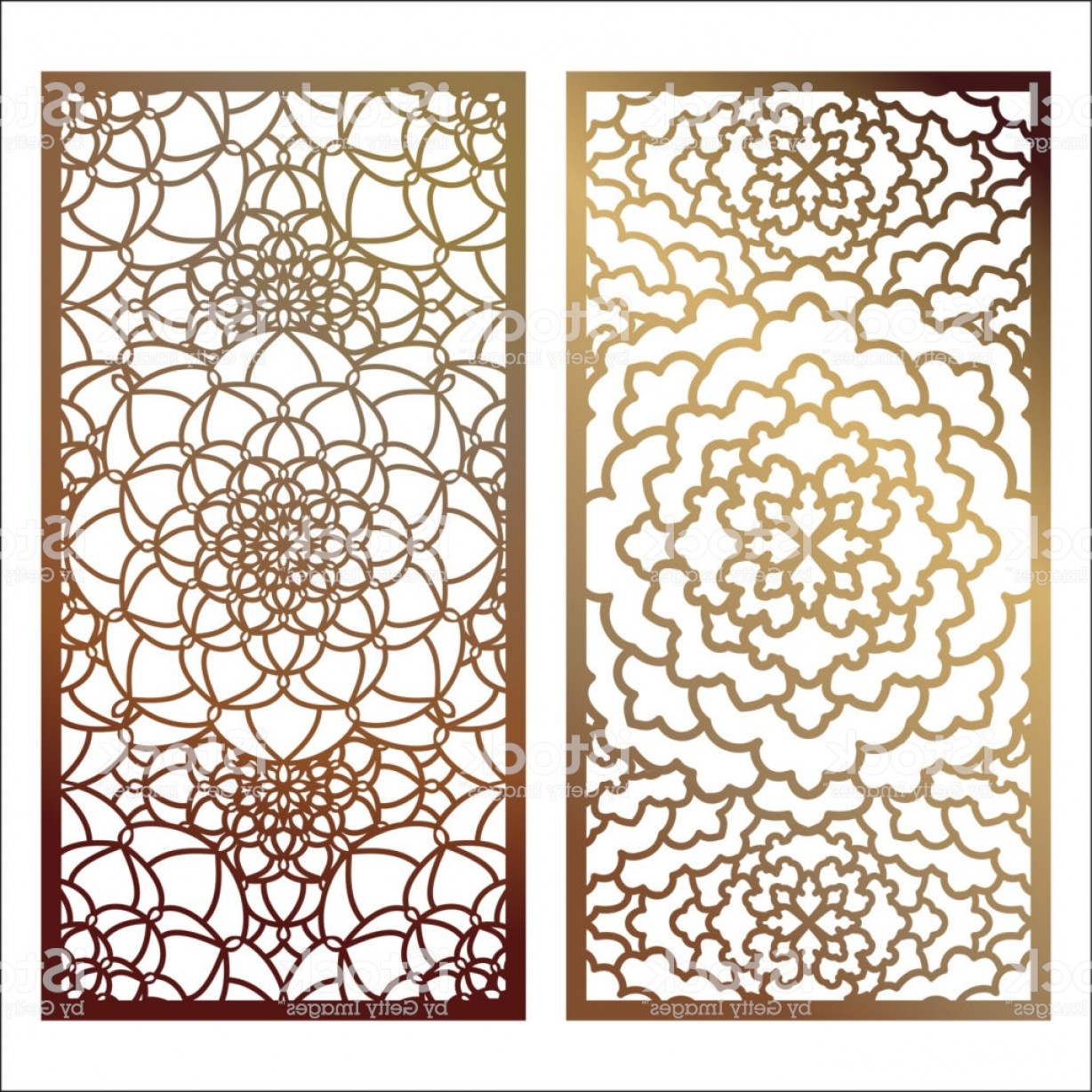 Wrought Iron Vector For CNC: Set Of Vector Laser Cut Panel Pattern Template For Decorative Panel Wall Panels Or Gm
