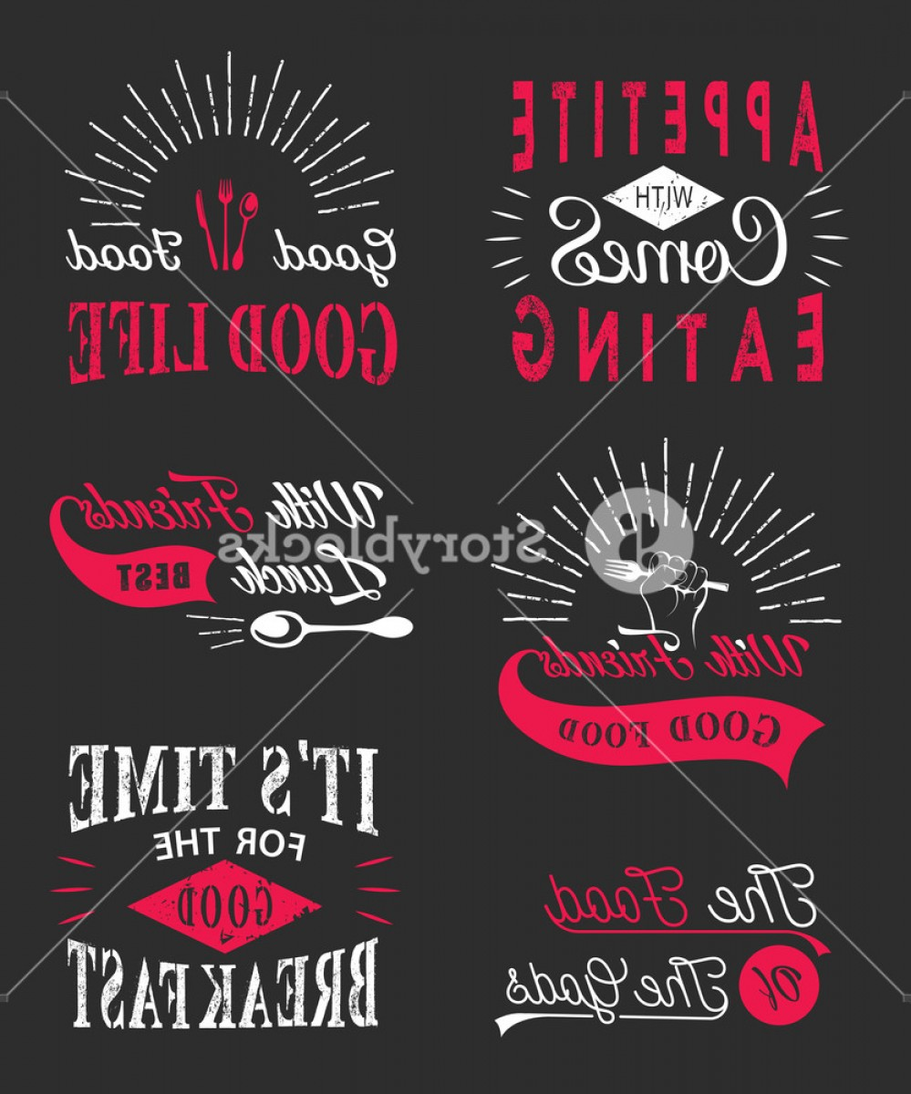 Vector Quotes: Set Of Vintage Food Typographic Quotes Vintage Food Related Typographic Quotes Vector Illustration Rbvneqqzmjbxwrzb