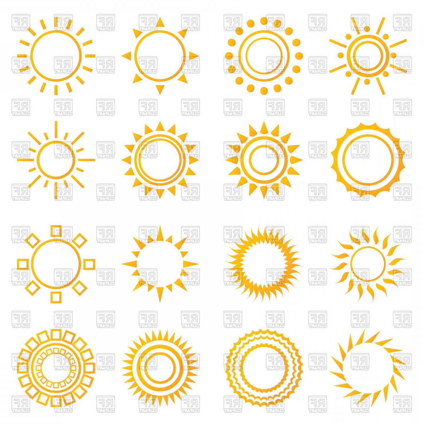 Starburst Icon Vector: Set Of Vintage Sunburst Icons Vector Clipart