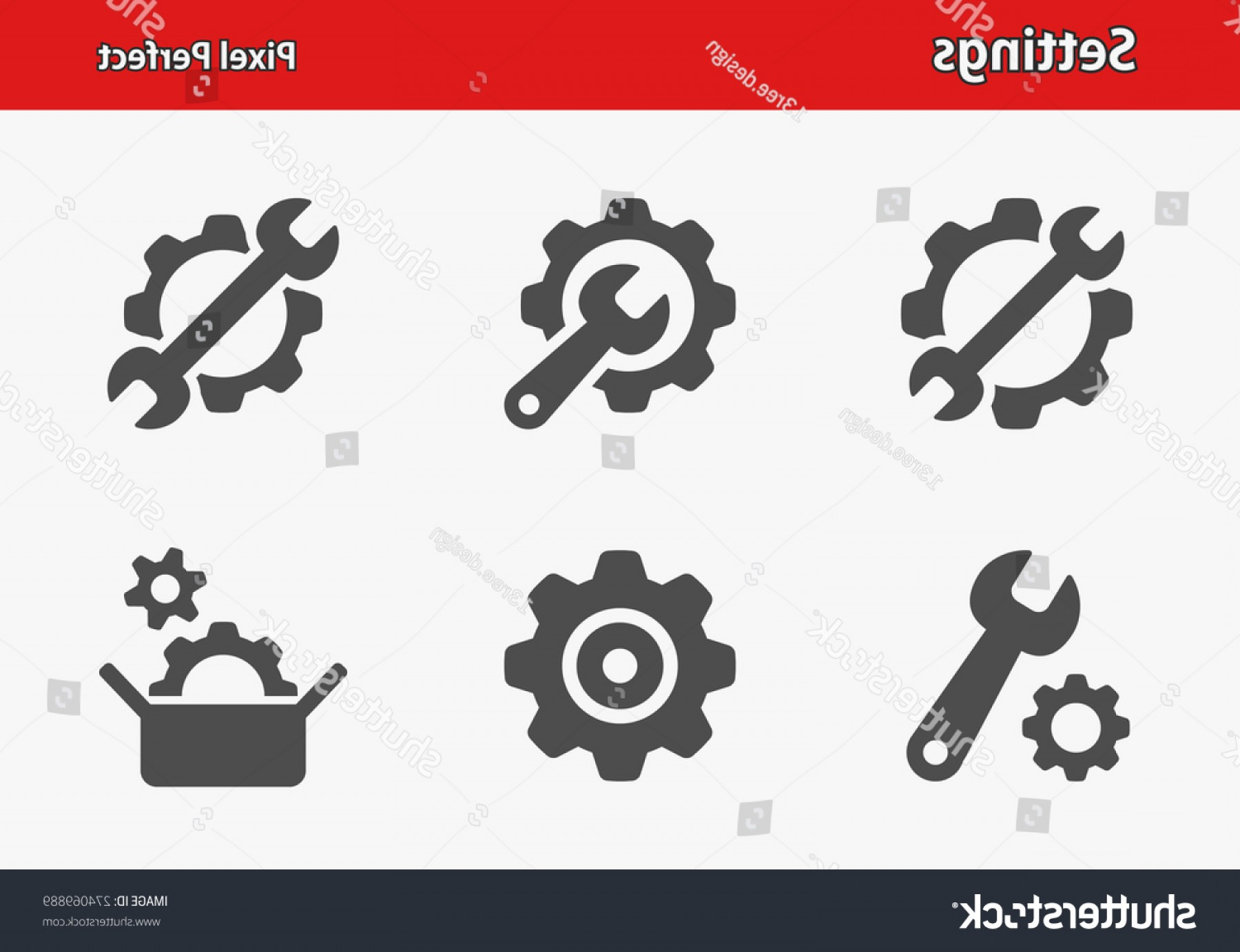 Gear Vector Icons Large: Settings Icons Professional Pixel Perfect Optimized