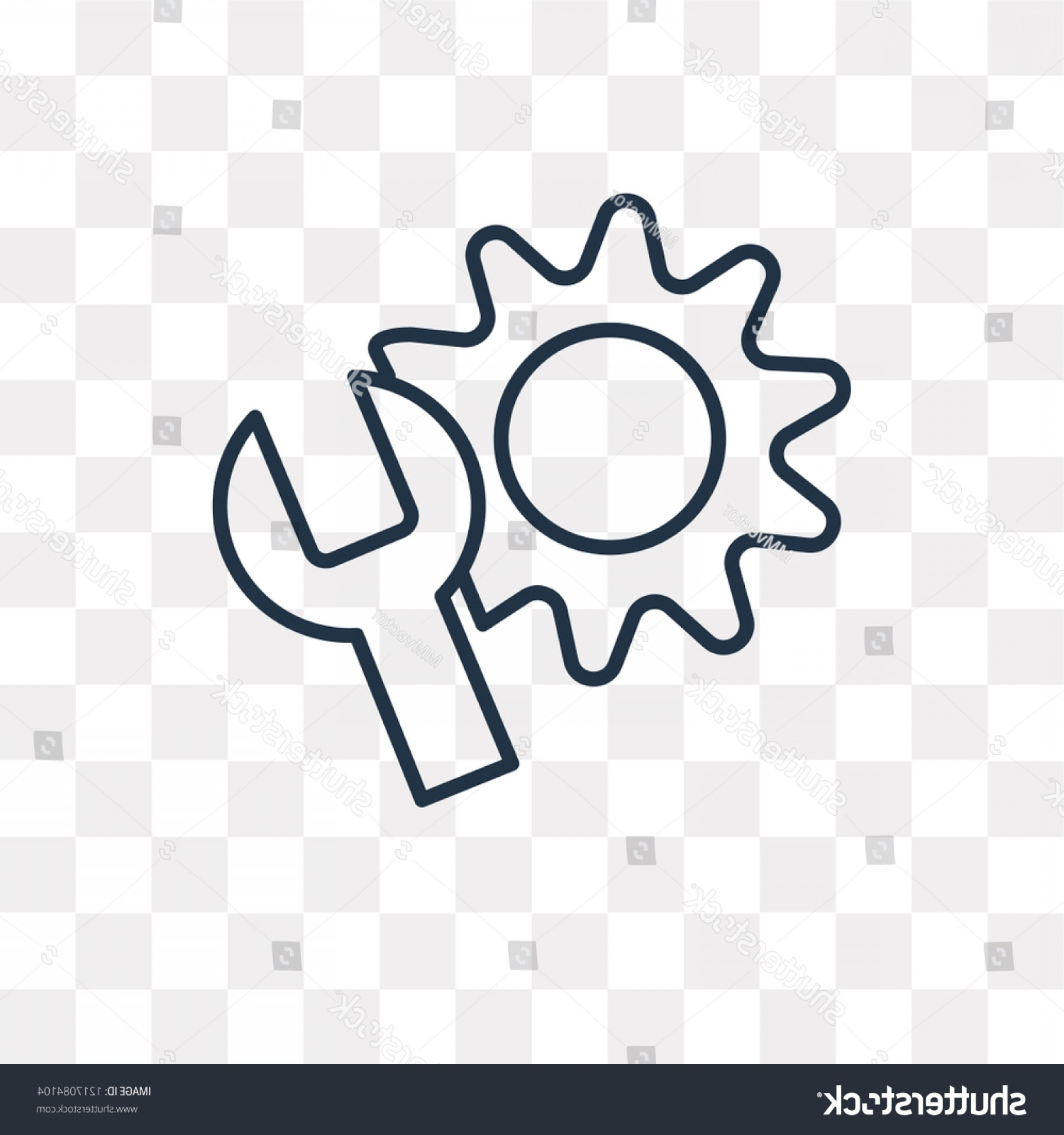 Setting Sun Vector Outline: Settings Vector Outline Icon Isolated On