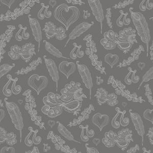 Grey Bird Wallpaper Vector: Animals Background For Kids Vector Seamless Pattern With Doodle Cockatoo Parrot And Gm