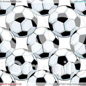 Vector Soccer Ball Pattern: Seamless Background Pattern Of Soccer Balls