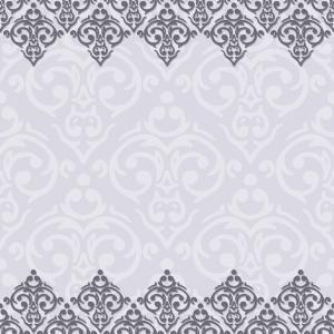 Ornate Vintage Frameborder Vector: Seamless Purple And White Frameborder In Damask Vector
