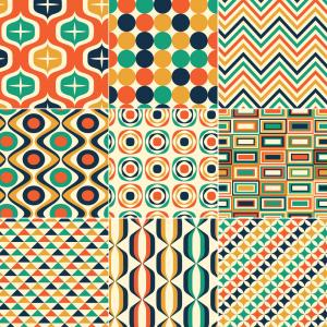 Retro Pattern Vector: Seamless Retro Pattern Print Vector