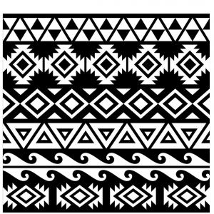 Simple Aztec Pattern Vector: Aztec Mexican Seamless Pattern Vector
