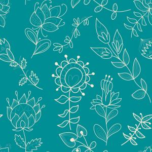 Turquoise Flower Vector: Floral Border With Succulents Gm