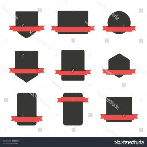 Vector Format Logos Ted Black: Set Blank Banners Logo Isloated Vector