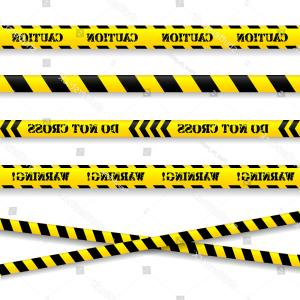 Caution Stripes Vector: Set Caution Tapes Vector Illustration