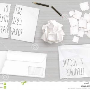Broken Pencil Vector: Set Creasy Paper Sheets Set Different Crumpled Torn Sheets Paper Broken Pencil Vector Graphics Image